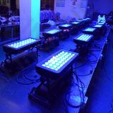 36pcs RGBW 4en1 bañador de pared LED de color de la ciudad al aire libre