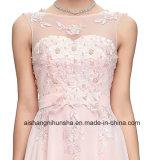 Abschlussball kleidet Hochzeits-Kleid mit dem Bördeln und Applique