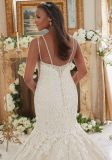 V шея отбортовывая Mermaid шнурка плюс мантии платья венчания размера Bridal