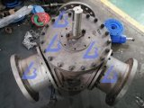 Tipo vávula de bola ensanchada de tres vías DIN/JIS/ANSI/GOST 120&deg de 120 grados Y; Y pulsa la vávula de bola de tres vías de Ss/CS