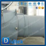 Engranaje helicoidal Didtek montado en el muñón soldado completamente la válvula de bola