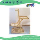 Mensola di legno solida rustica del POT di fiore del banco (HG-4108)