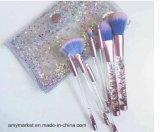 Кристаллический жидкостная гениальная синтетическая щетка 7PCS косметик щетки состава инструментов состава волос