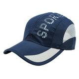Maille imprimée personnalisée exécutant chapeaux Marine sec Fit Sport Run Cap Hat