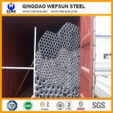 Pipe BS1387 en acier galvanisée plongée chaude ronde