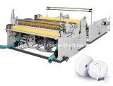 Papel higiénico de corte longitudinal y rebobinado de la máquina