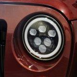 7 بوصة [لد] مصباح أماميّ لأنّ عربة جيب مخاصم مع هالة حل, [60و] مستديرة [لد] مصباح أماميّ مع [درل]