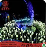 A fábrica fornece a luz da flor do Tulip do diodo emissor de luz para a iluminação ao ar livre da decoração do jardim da noite