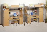 Sf-14r-Student Dormitory Iron Bunk Bed con Study Table Wordrobe e Stairs