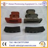 Attaches plates métallisées de la brame S4 pour des Sept-Fils de 15.24mm précontraignant des brins