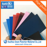 Bleu transparent gravé en relief rigide de feuille de PVC de film de PVC