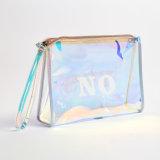 Customized transparente de plástico impermeável PVC Viagem Makeup Bolsa saco cosméticos