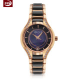 Exakte Frauen-Quarz-Dame-Edelstahl-Armbanduhr