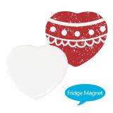 Магнит холодильника сублимации с печатание изображения DIY - формой сердца
