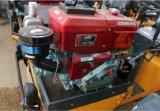 La carretera de doble tambor mini rodillo compactador de suelo (YZ1)