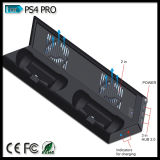 Playstation 4 PS4プロコンソールコントローラのための冷却ファンの二重充電器が付いている縦の立場