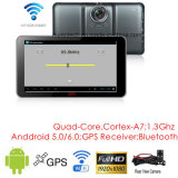 Nouveau 7.0inch Android 6.0 Quad-Core Car Tablet PCS avec navigation GPS, 2CH voiture DVR, stationnement View Camera, FM-Transmitter, Bluetooth, Dash Video Recorder Camera; WiFi