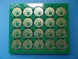 Cortinas através do PWB do ouro da imersão placa de circuito de 4 camadas