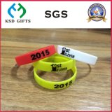 Bracelets faits sur commande de silicones/silicium de promotion pour estampé (KSD-825)