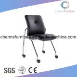 Chaise de formation de bureau de travail en plastique colorée de haute qualité avec roulettes