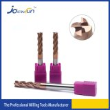 SGS HRC 60 4 Flautas Carbide Molino extremo cuadrado