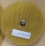 Disco calcinado revestimento protetor da aleta da fibra de vidro, roda de moedura e de lustro abrasiva