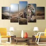HDは動物のライオンのグループの絵画キャンバスの版画室の装飾プリントポスター映像のキャンバスMc037を印刷した