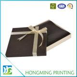 Caixa feita sob encomenda luxuosa dos doces de chocolate do cartão do logotipo