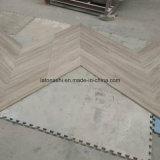 Grano di legno bianco della Cina, mattonelle di legno grigio-chiaro del marmo del grano per il pavimento/parete del salotto
