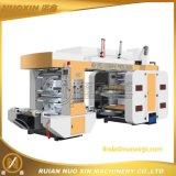 Tipo de pila de 4 colores de la máquina de impresión flexográfica
