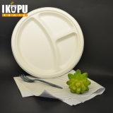 Contenitore di alimento di plastica ecologico di Microwaveable dei 3 scompartimenti con il coperchio