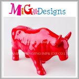 Recepción de cerámica animal de encargo del OEM de la venta al por mayor del rectángulo de dinero