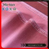 ピンクカラー綿のスパンデックスの編むデニムファブリック