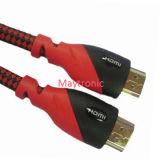 이더네트 24k 금에 의하여 도금되는 HDMI 케이블을%s 가진 고속