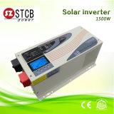 Инвертор волны синуса DC/AC индикации высокого качества 1500W LCD солнечный