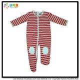 厚い赤ん坊の服装海軍カラー赤ん坊の衣服のロンパース