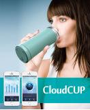 Бутылка воды нержавеющей стали чашки отслежывателя данным по соединения Bluetooth франтовская