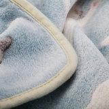 Jacquardwebstuhl-weiche korallenrote Vlies-Baby-Mikrozudecke
