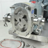 Pompe à lobes rotatifs en acier inoxydable avec chariot pour le transfert de chocolat
