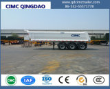Cimc三車軸U形半34トンの前部上昇の後部ダンプのトレーラトラックシャーシ
