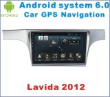 Lettore DVD Android dell'automobile del sistema 6.0 per Lavida 2012 con percorso di GPS dell'automobile