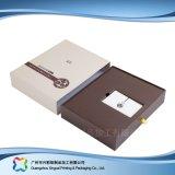 Caixa de empacotamento luxuosa de madeira/do cartão gaveta para o presente/cosmético (xc-hbc-007)