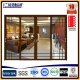 Ahorro de energía de madera de aluminio correderas y puertas plegables