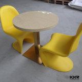 Superfície sólida redonda em mármore artificial de mesa de jantar