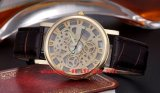 Het slimme Horloge van de Beweging van het Kwarts met de Riem van het Leer voor Mensen Fs497