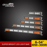 Guide optique d'éclairage LED blanc le plus neuf de la barre 4X4 10W du travail tous terrains ambre du CREE DEL
