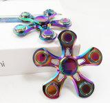 다채로운 비행 물고기 무지개 세 배 방적공 자이로컴퍼스 장난감 손 방적공
