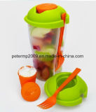 Ensalada de plástico para servir Copa de servir con tenedor