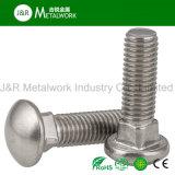 Boulon de transport d'acier inoxydable de SS304 Ss316 Ss316L A2 A4 DIN603