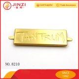 Подгонянный высоким качеством логос сумки логоса металлопластинчатый с золотистым